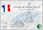 The cover of the example lesson for the French for beginners classes