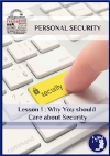 The cover of the example lesson for the personal security classes