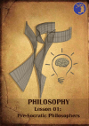 The cover of the example lesson for the philosophy classes