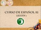 The cover of the example lesson for the Spanish for beginners classes